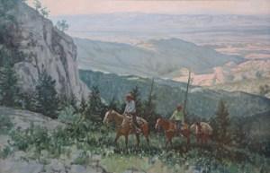 """Ross Stefan, Mountain Top Way, Oil on Canvas, 26"""" x 40"""""""