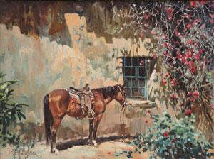 "Ross Stefan, Mucho Tiempo, Oil on Canvas, Circa 1966, 18"" x 24"""