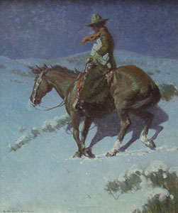 "William Herbert Dunton, Delivering the Mail, Circa 1912-15, Oil on Canvas, 30"" x 25"""