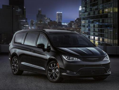 black sporty minivan tricked out