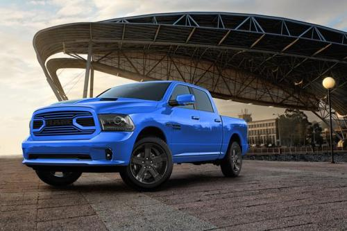 bright blue RAM special edition pickup