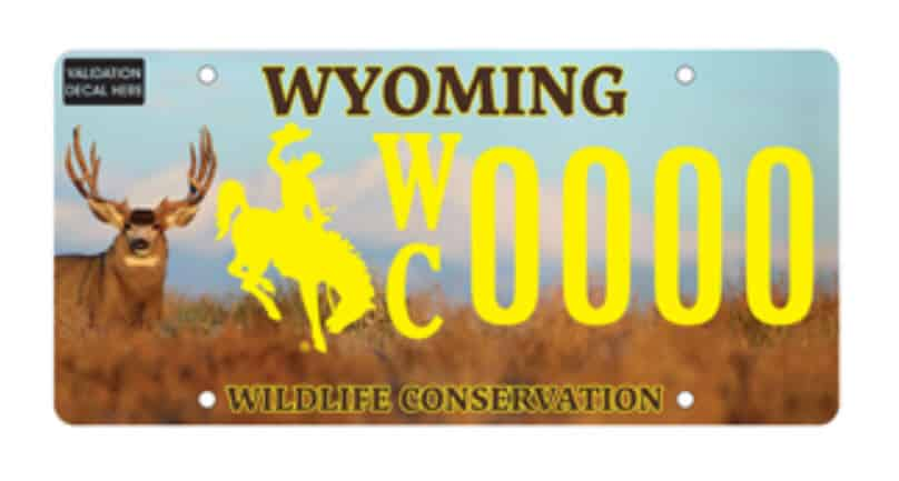 Wyoming Wildlife Plates Available Jan 2019 to Aid Conservation