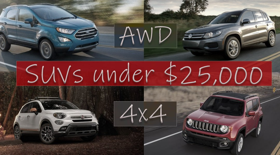 New SUVs Under $25000 with AWD or 4×4