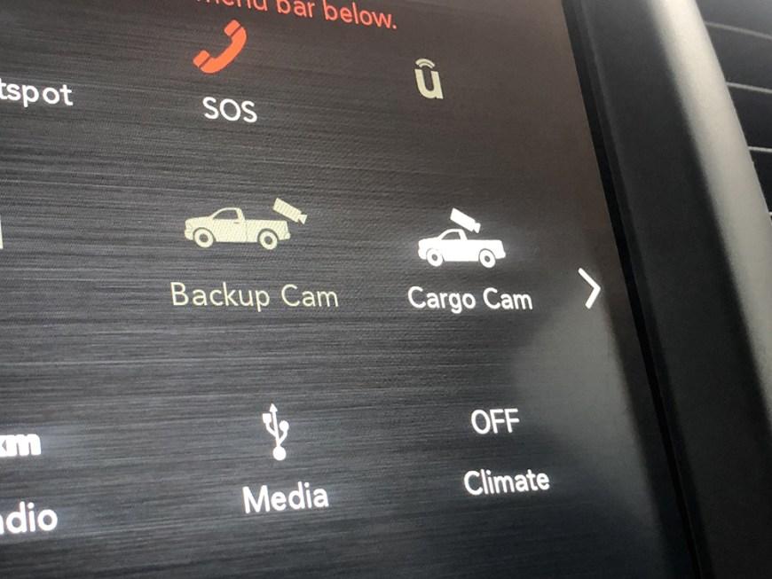 RAM cargo camera screen
