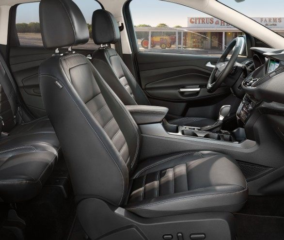 2019 Ford Escape front seats black leather