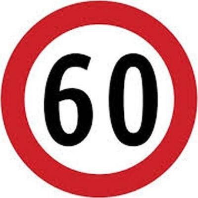 Σήμα ορίου ταχύτητας 60 φορτηγών αυτοκόλλητο