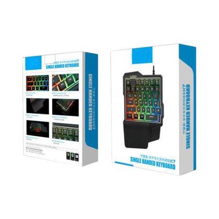 Φορητό Gaming πληκτρολόγιο RGB - Single Handed Keyboard K7