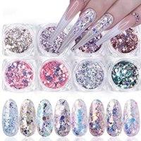 Διακοσμητικά Pixel - Glitter - HoloNails- 12 τεμάχια