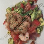 Salad from Smoked Salmon, Shrimps and Avocado (Ensalada de Salmon Ahumado, Gambas y Aguacate)