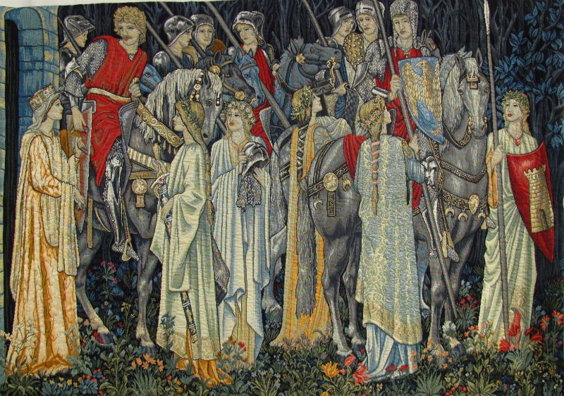 Quest for the Holy Grail tapestry - Burne-Jones tapestries