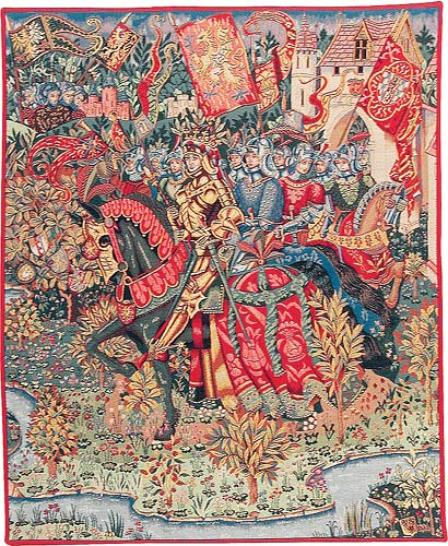 Le Roi Arthur tapestry - Camelot wall tapestries - King Arthur