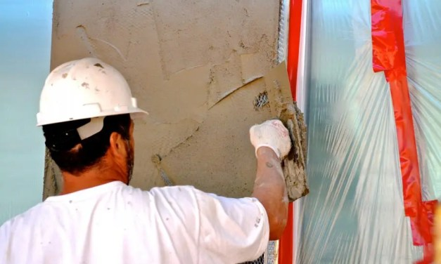 How is tape used in stucco work?