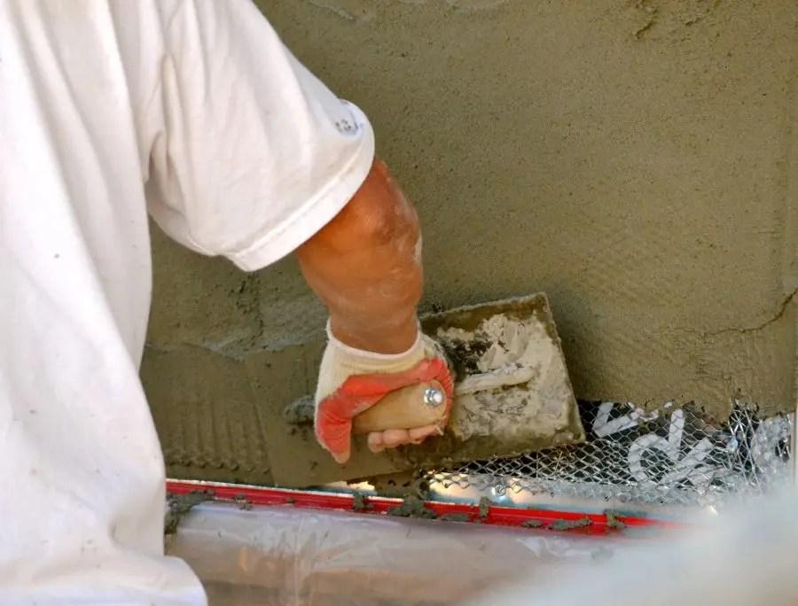 What does stucco tape failure look like