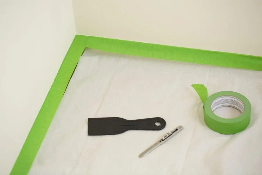 how to protect the floors when painting