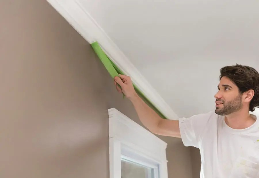 How to protect the walls when painting the ceiling
