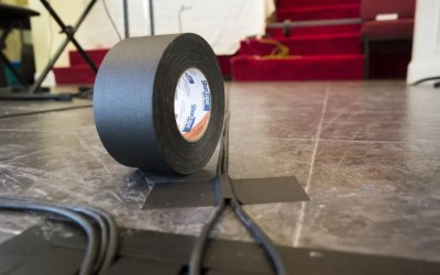Why shouldn't I tape down cables with duct tape?