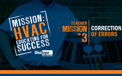 Mission: HVAC 2019 Educator – Mission Three: Correction of Errors