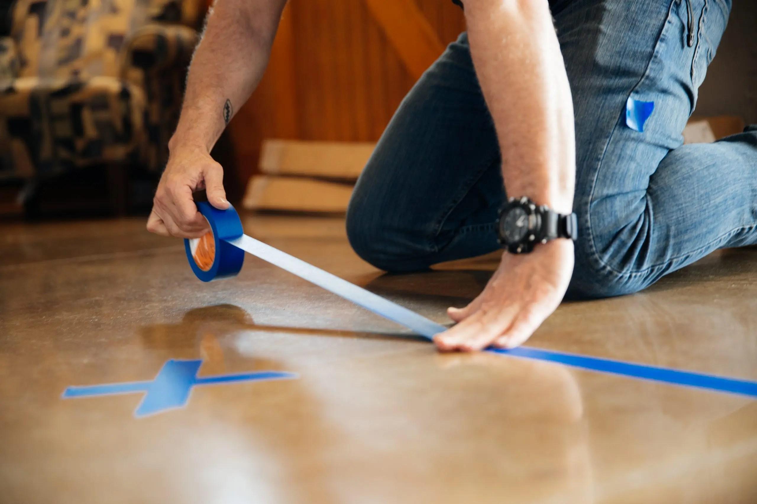 Blue Painters Social Distancing