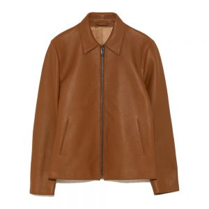 Brown Mens Leather Fashion Jacket