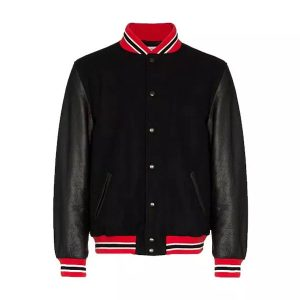 Leather Suede Varsity Jacket