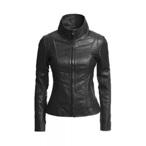Wonderful Soft Lambskin Leather Moto Jacket