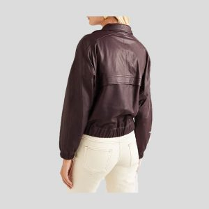 Smooth Leather bomber jacket