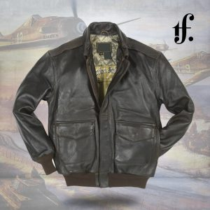Antique Lamb Leather A2 Bomber Jacket