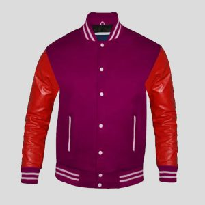 Bulk Custom made Leather letterman Jacket