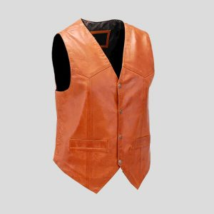 Classic looking vintage western style leather vest