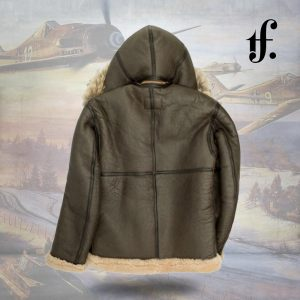Dunkirk RAF Hooded b3 Leather Jacket