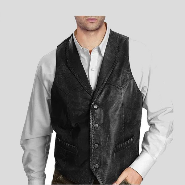 Vintage Style men leather vests
