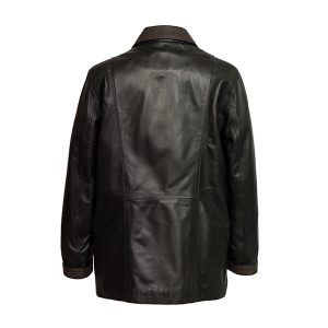 Women's Black Leather Coat