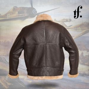 RAF Aviator Bomber Real Shearling Real Leather Jacket