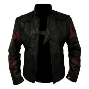 Captain America All Black Genuine Leather Jacket