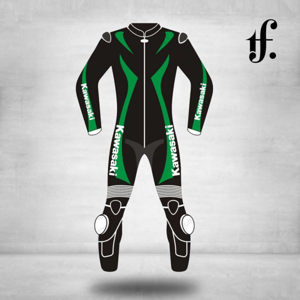 Kawasaki Ninja Black & Green Motorcycle Suit
