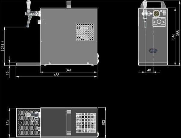 Lindr 40/K dimensions