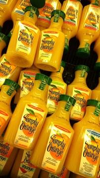 Orange juice containers