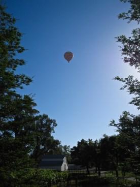 Balloon over barn