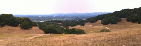 View of hiking trail.