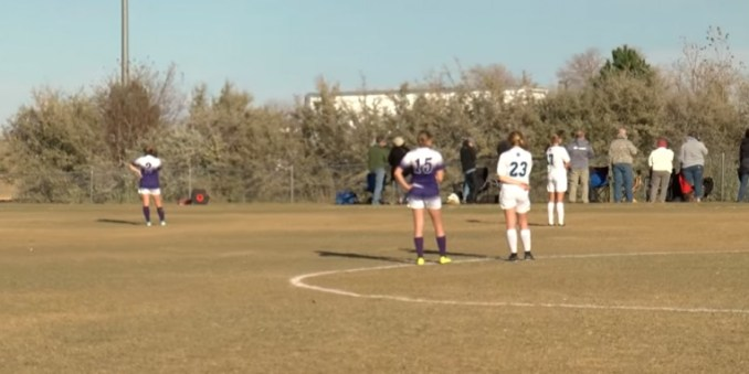 Girls Freeze In Middle Of Soccer Game At Siebel Soccer Park