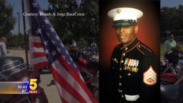 Marine Johnathan Turner Remains Transported By Bikers