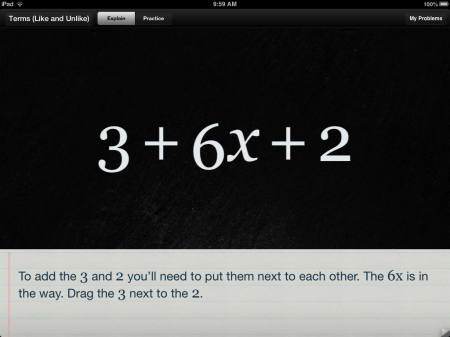 Algebra Touch Math Help iPad App | Collecting Like-Terms in Algebra