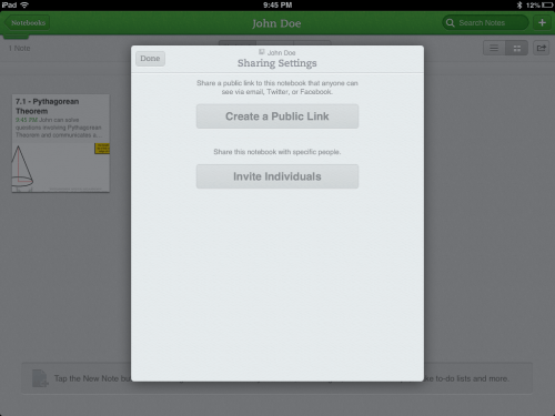 Share Evernote Assessment and Descriptive Feedback With Students and Parents