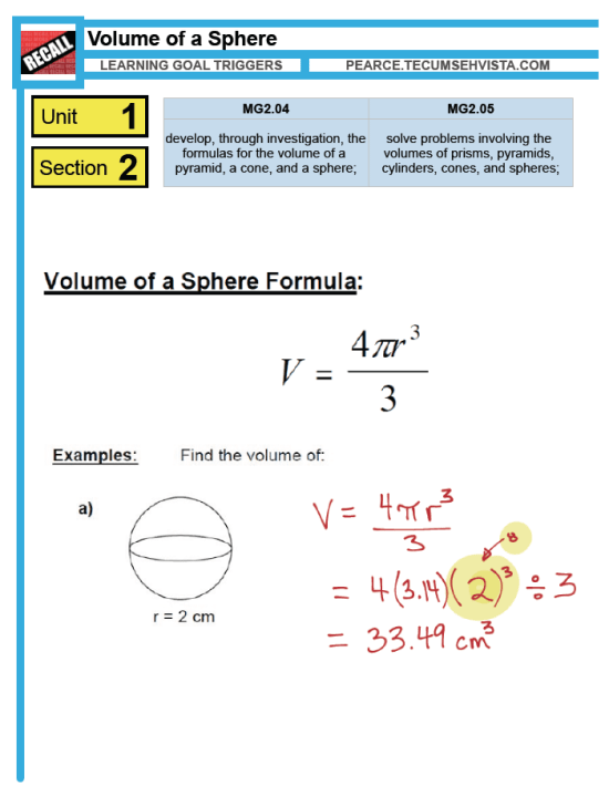 Volume of a Sphere - Layar Trigger