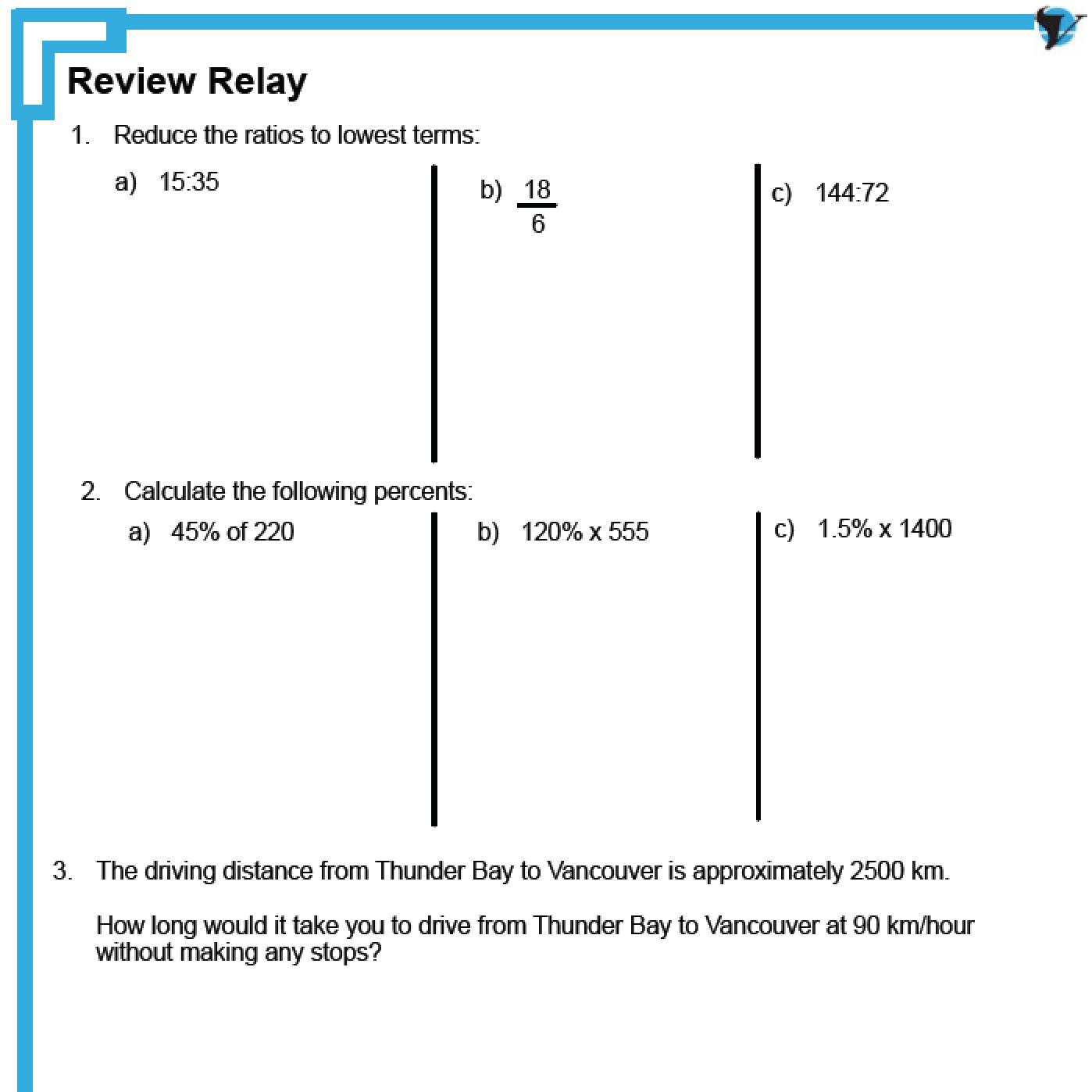 worksheet Proportional Reasoning Worksheets 4 7 ratios rates and proportional reasoning review mfm1p 9 math