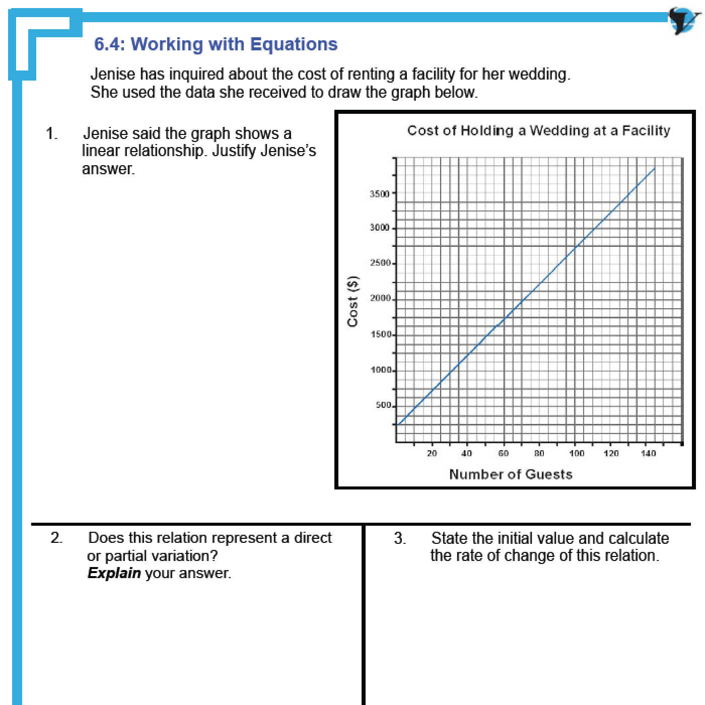 math worksheet : 6 3  mathematical models multiple representations of linear relations : Multiple Representations Of Functions Worksheet
