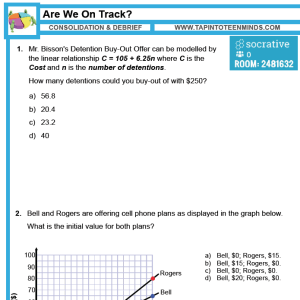6.8 – Multiple Representations of Linear Relations Review | MFM1P Grade 9 Applied Math Help