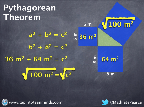 Pythagorean Theorem - Square root both sides of the equation