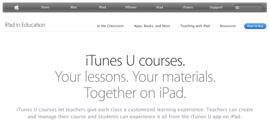 iTunes U Courses - LMS for iPads