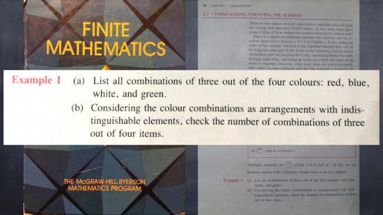 Two Groups of Math Students - Textbooks and Abstraction